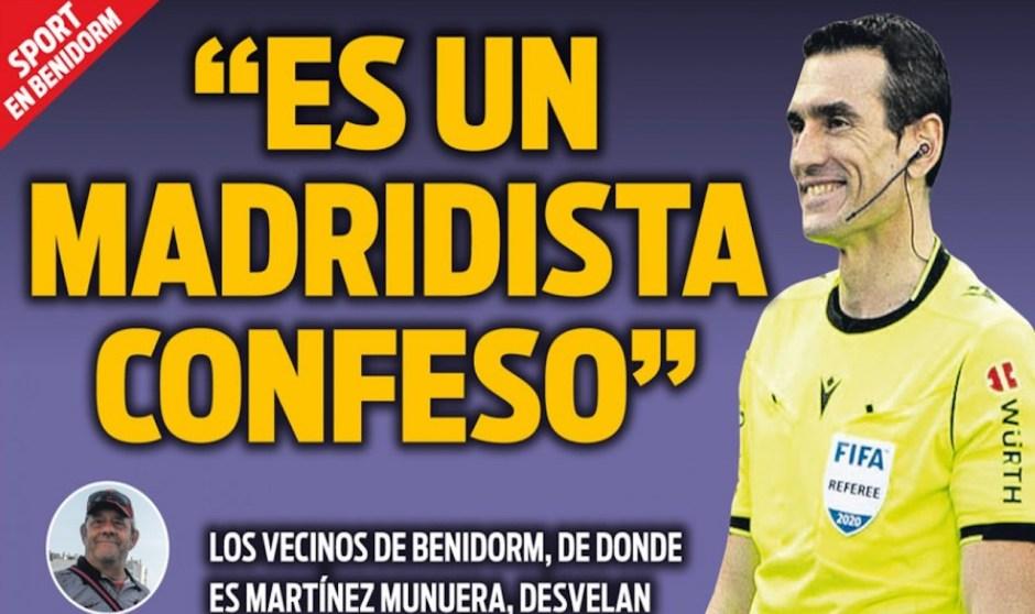 Sport reconoce que ha mentido - Madrid-Barcelona