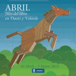Cartel Mes del libro en Daoíz y Velarde abril 2015