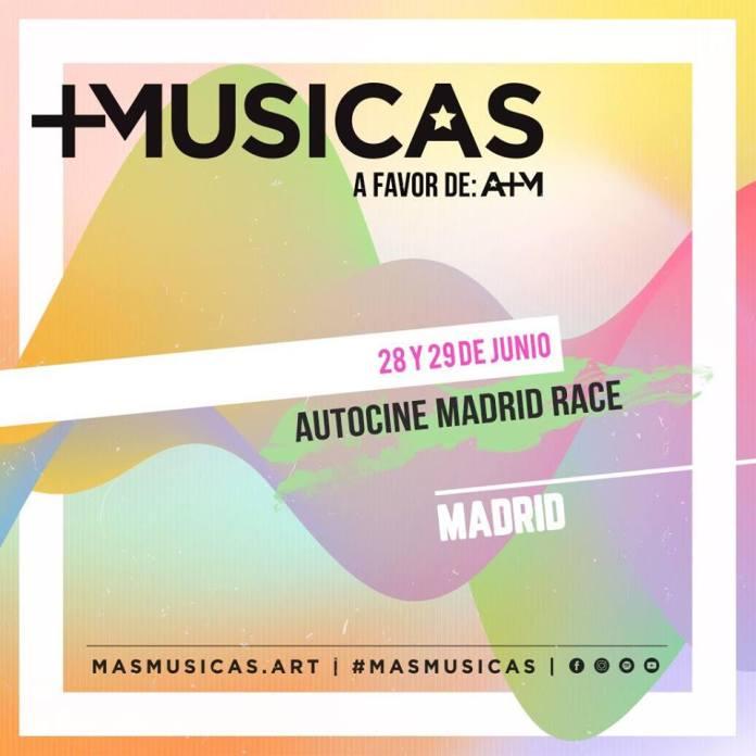 Autocine Madrid RACE cierra el mes de junio con el festival MÁS MÚSICAS 1