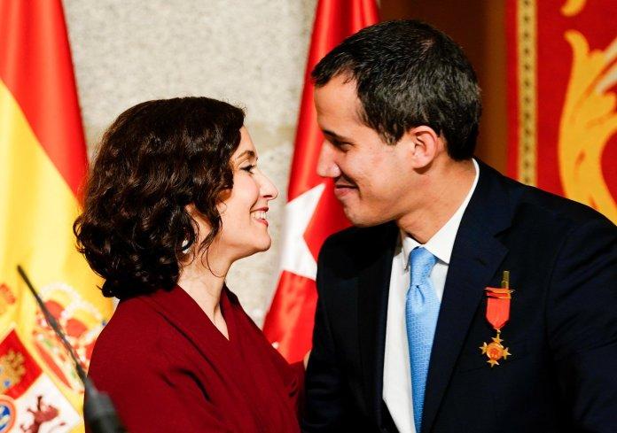Madrid recibe con los máximos honores al presidente de Venezuela Juan Guaidó 8