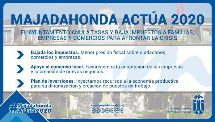 Majadahonda anula tasas y baja impuestos a familias, empresas y comercios 1