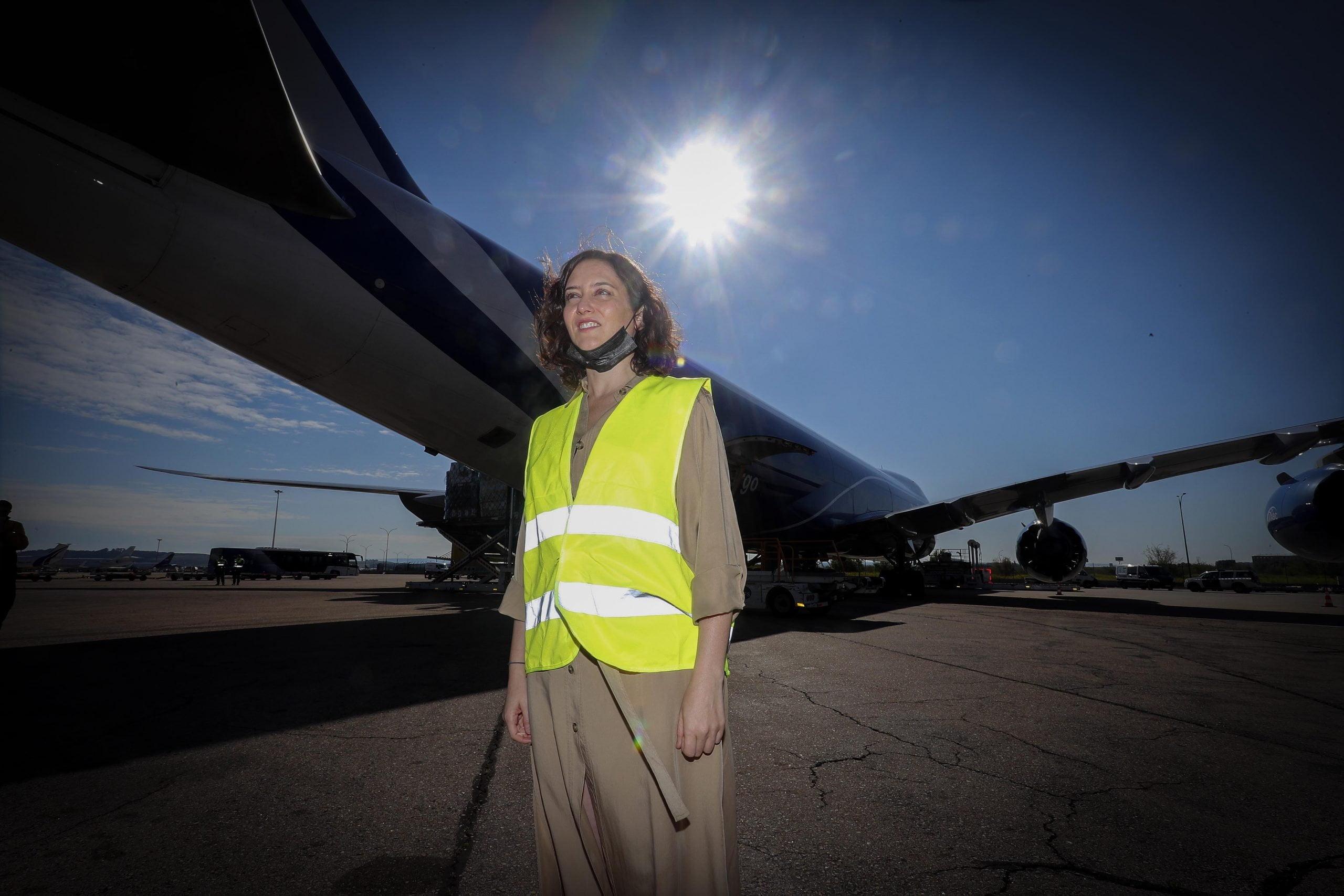 113 toneladas más de material sanitario aterrizan en Madrid 2
