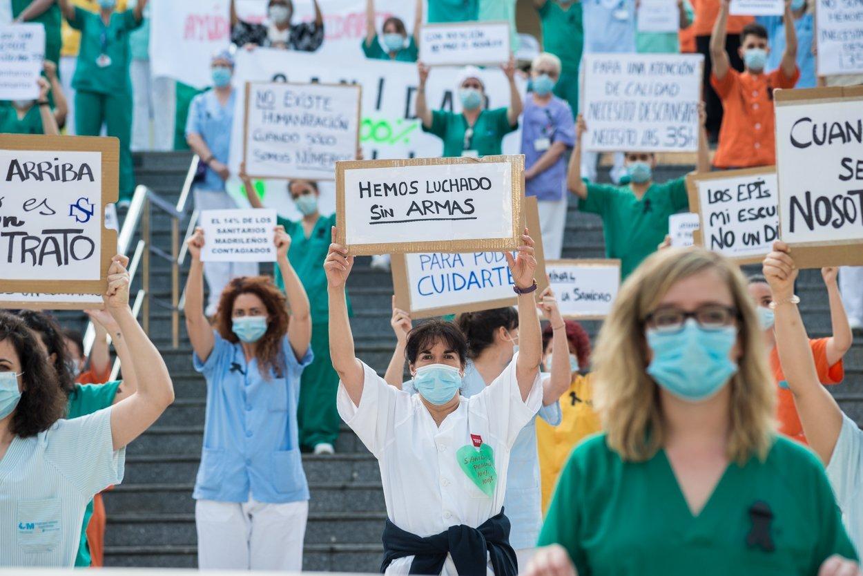 Sanitarios madrileños piden más 'refuerzos' 7