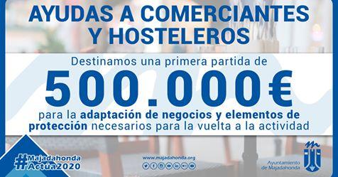 500.000 euros en ayudas para los comerciantes y hosteleros de Majadahonda 1
