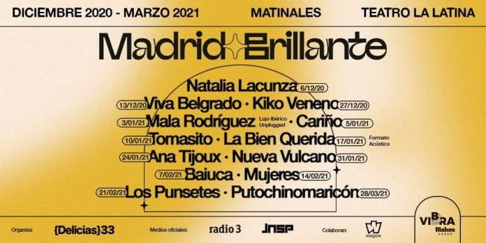 Madrid Brillante: nuevo festival diurno con conciertos hasta marzo 1