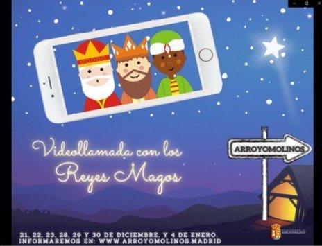 Los Reyes Magos agendan una videollamada con los niños de Arroyomolinos 1