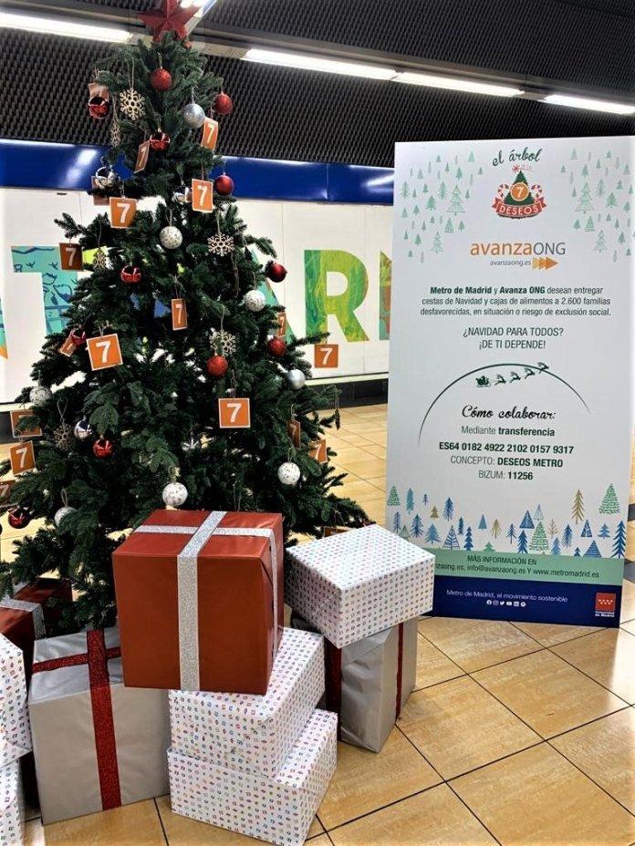 Un Metro, doce causas: un árbol de Navidad solidario en cada línea 8