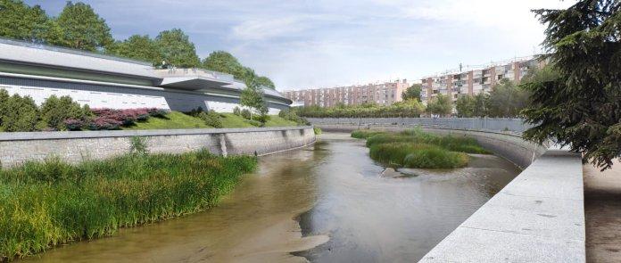 La cubrición del antiguo Calderón culmina Madrid Río 3