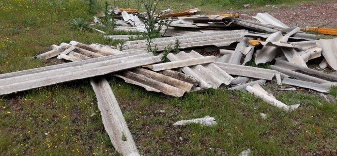 Investigan la aparición de vertidos ilegales de uralita en Algete 1