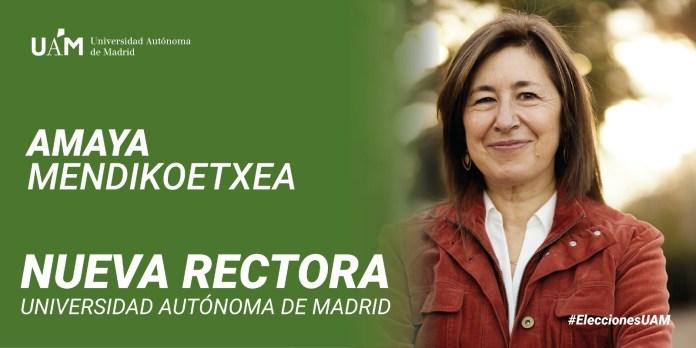 Amaya Mendikoetxea será la nueva rectora de la Autónoma 1