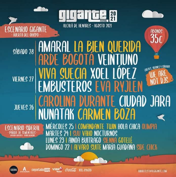 El Festival Gigante de Alcalá se celebrará del 22 al 28 de agosto 1