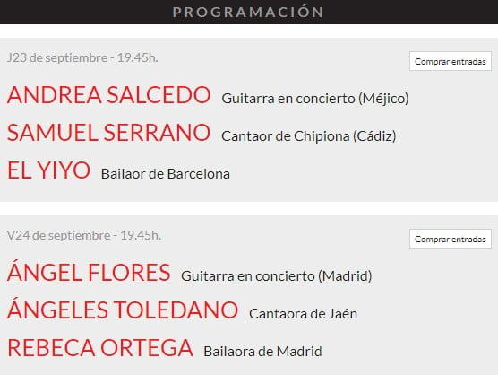 Suma Flamenca Joven en Teatros del Canal 1