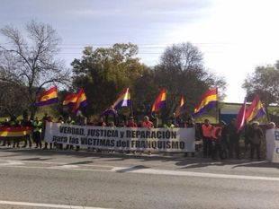 Concentración en Cuelgamuros (Foto: @foromemoria )