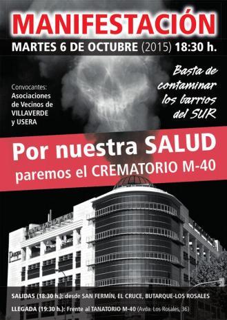Manifestación Crematorio