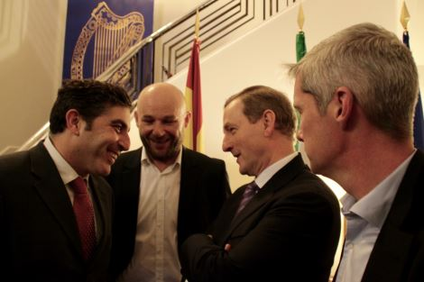 Madrid Harps With An Taoiseach Enda Kenny