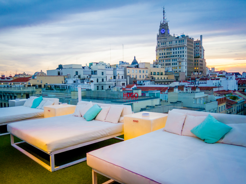 Vista de Madrid desde la terraza