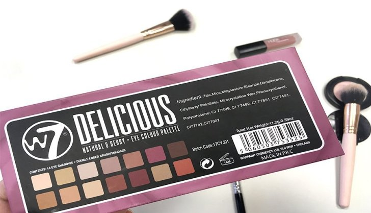 delicious w7 modern renaissance abh look makeup colores ingredientes
