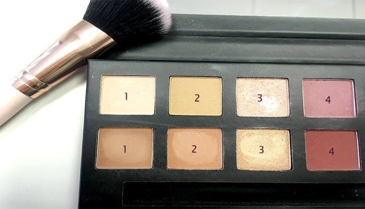 delicious w7 modern renaissance abh look makeup colores