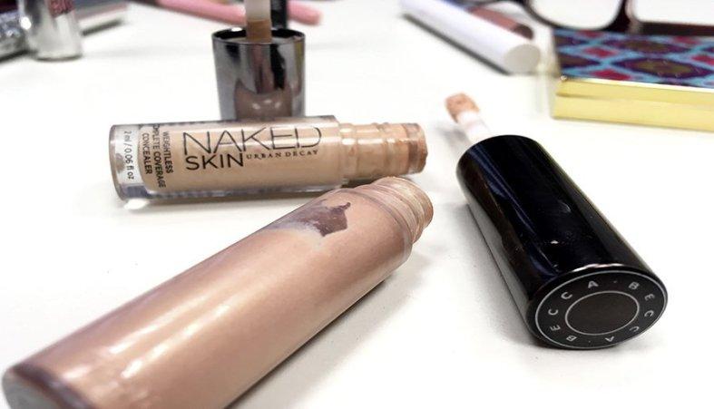 Neceser ideal de maquillaje neceser de maquillaje para principiantes productos en minitallas maquillaje corrector naked skin iluminador opal becca