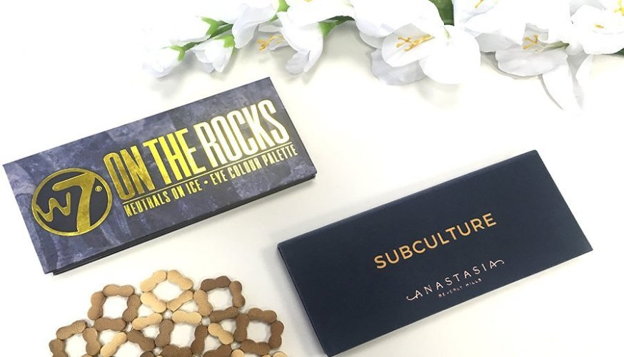 anastasia beverly hills subculture palette clon on the rocks w7 11