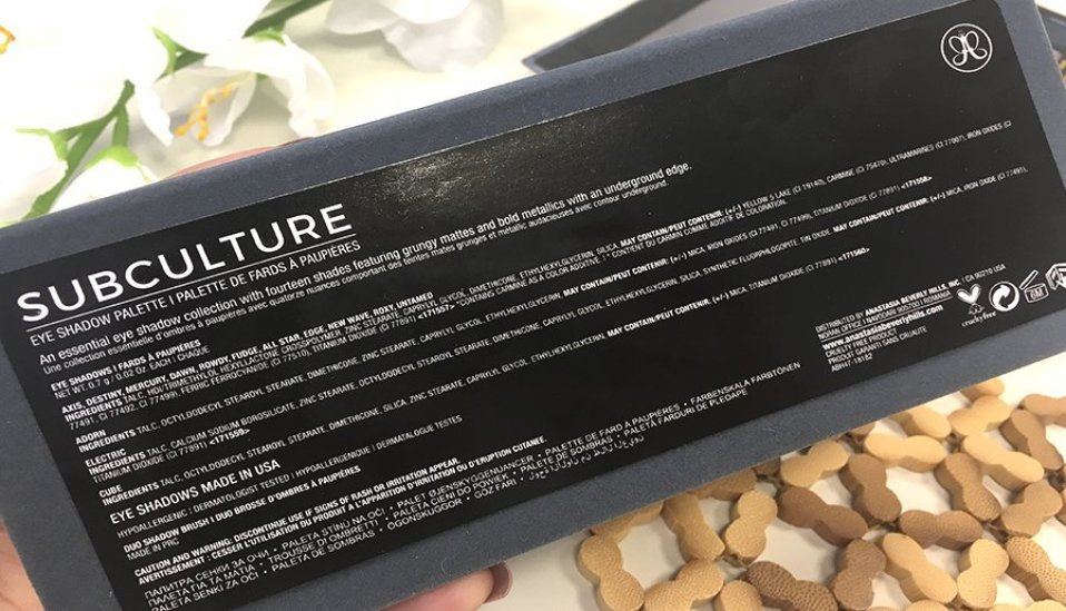 anastasia beverly hills subculture palette clon on the rocks w7 6