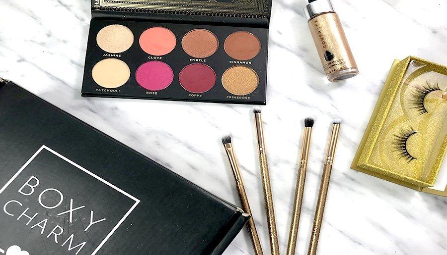 boxycharm noviembre ace beauty paleta de sombras glitter cover fx nova jonteblu pestañas postizas luxie brochas de luxie 5