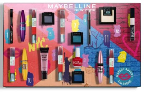 calendario de adviento maybelline 2020 calendario de adviento maquillaje 2020 madridvenek