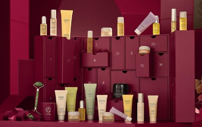 calendario de adviento de belleza 2021 calendario de adviento ESPA 2021 comprar calendario de adviento maquillaje 2021