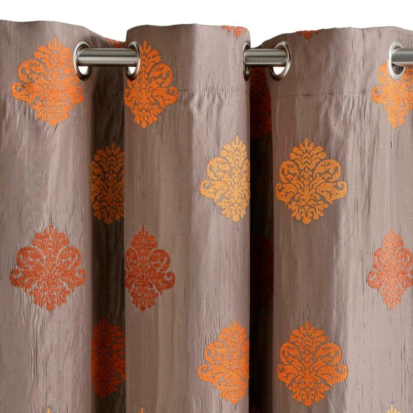 Curtain With Grommets Duomo Orange - Madura