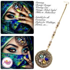 Madz Fashionz UK: Beautydosage Mandala Maang Tikka Gold Multicolour
