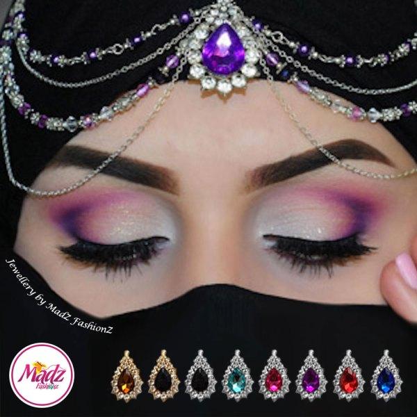 Madz Fashionz UK Beautybyaya Bridal Matha Patti Silver Purple 1