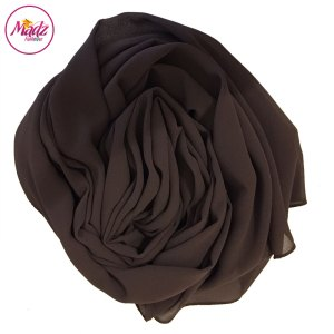 Madz Fashionz UK: Long Maxi Plain Chiffon Chocolate Muslim Hijabs Scarves Shawls