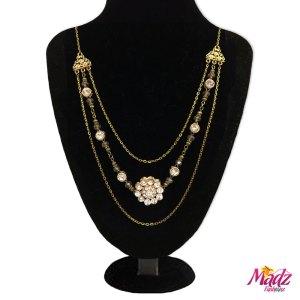 Madz Fashionz UK: Anaika Kundan Gold Pearl Long Bridal Necklace Mala