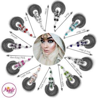 Madz Fashionz UK: ItsCutieBeauty Kundan Hijab Pin Stick Pin Hijab Jewels Hijab Pins Silver Finish