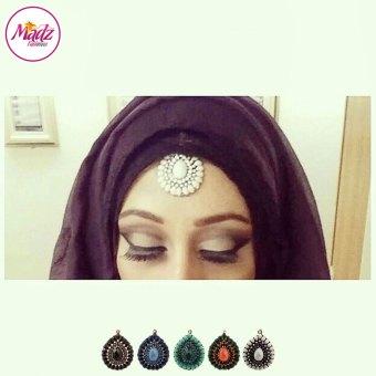 Madz Fashionz USA: Habibi_henna Vintage Drop Hair Tikka Gold Black Navy Blue Orange Green White