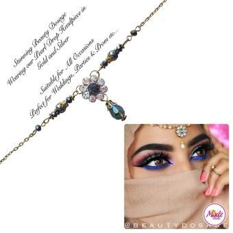 Madz Fashionz USA BeautyDosage Pearl Drop Headpiece Gold Finish Silver