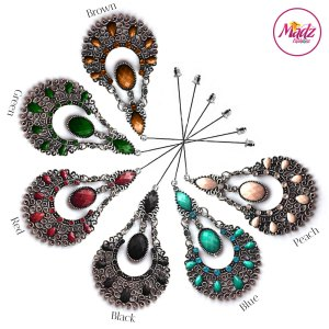 Madz Fashionz USA: Taybah Hijab Pin Hijab Jewels Stick Pins Silver Black Blue Red Peach Green Brown