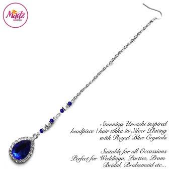 Madz Fashionz USA: Urvashi Rautela Kundan Crystal Stones Gold Maang Tikka Hair Tikka Silver Royal Blue