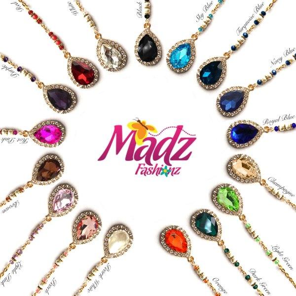 Madz Fashionz USA: Urvashi Rautela Kundan Crystal Stones Gold Maang Tikka Hair Tikka Gold Silver White