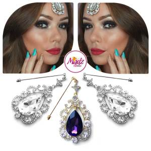 Madz Fashionz USA: Makeupbysanchez Chandelier Drop Hijab Pin Stick Pin Hijab Jewels Hijab Pins Gold Purple Silver White