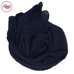 Madz Fashionz USA: Long Maxi Plain Chiffon Navy Blue Muslim Hijabs Scarves Shawls