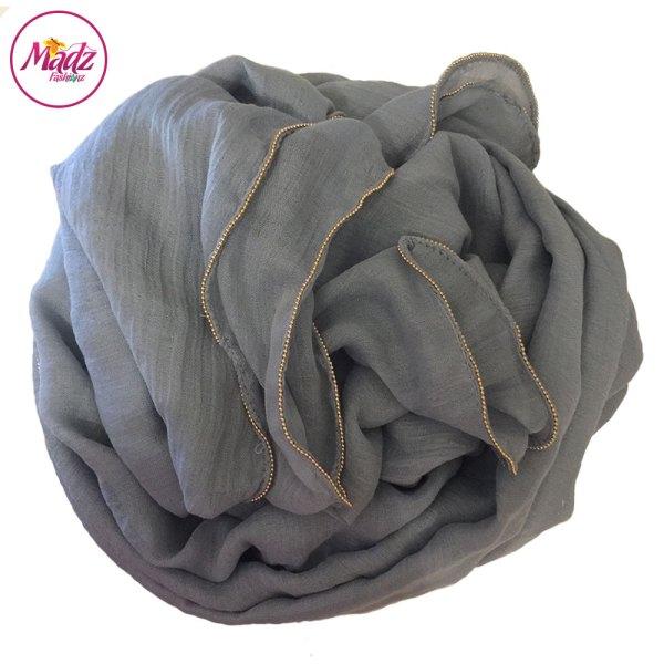 Madz Fashionz UK: Long Maxi Plain Luxury Cotton Pellet Silver Grey Muslim Hijabs Scarves Shawls
