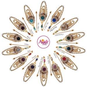 Madz Fashionz UK: Mehfooza Chandelier Drop Hijab Pin Hijab Jewels Stick Pins Gold Chained