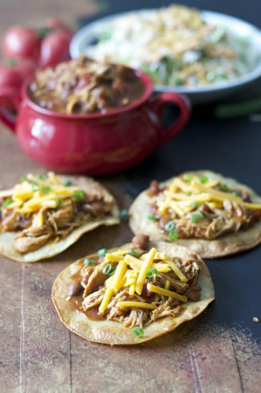 Slow Cooker Salsa Chicken just FOUR ingredients!
