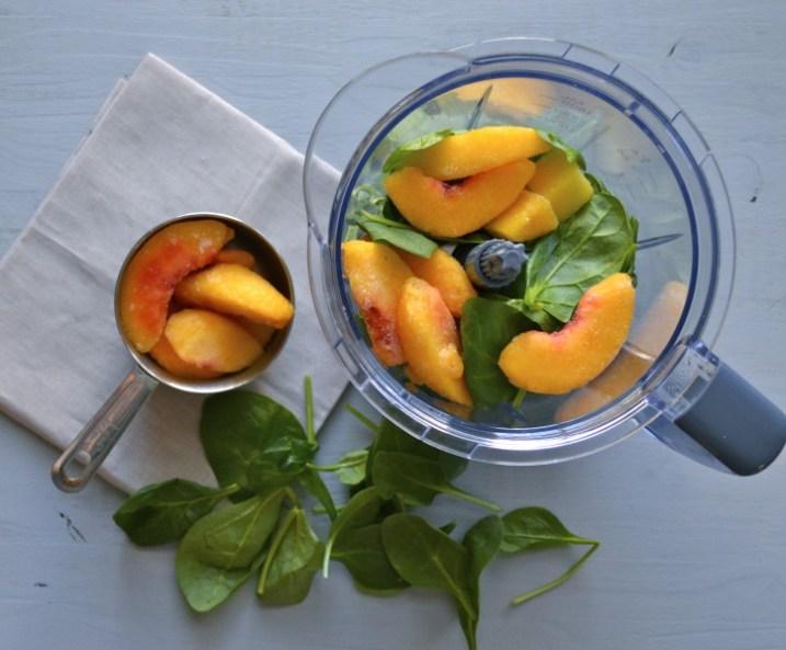 Peach Mango Green Smoothie