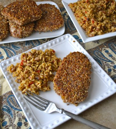 Pecan Crusted Pork Chops