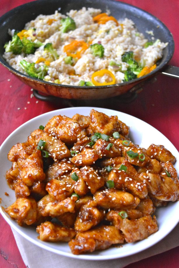 Gluten Free Kung Pao Chicken! This spicy chicken is SO much better than take out!