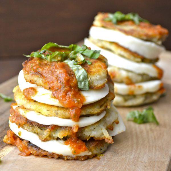 Eggplant and Mozzarella Stacks