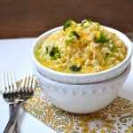 Creamy Broccoli Cheddar Rice