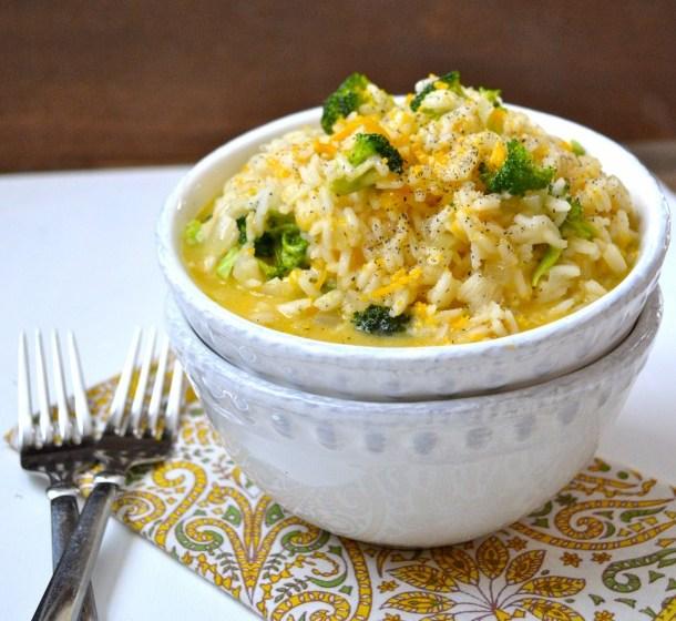 Creamy Cheddar Broccoli Rice
